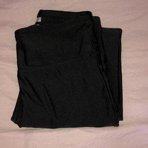 athletic black basic leggings